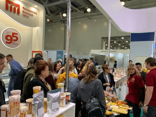 Kingfoods booth at World Trade Moscow 2019
