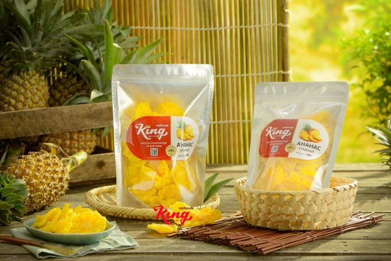 Soft dried pineapple of Kingfoods