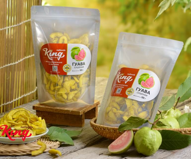 Bao bì đẹp của ổi sấy dẻo Kingfoods